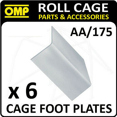 """AA/175 OMP ROLL CAGE FIXING """"L"""" SHAPE FOOT PLATES (x6) FIA APPROVED RACE/RALLY"""