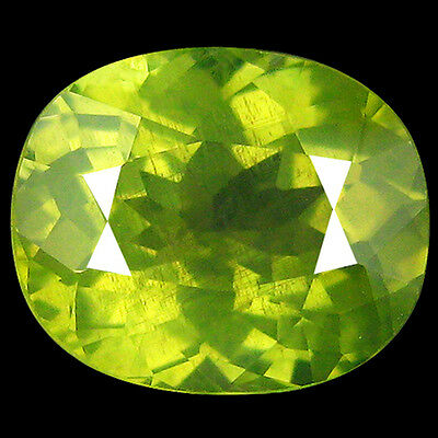 1.60Ct TOP MOST !100% NATURAL EARTH MINED AAA YELLOW GREEN CHRYSOBERYL