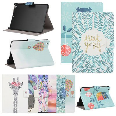 Patterned Case Leather Shell Folding Stand Cover For iPad 3 4 5 6 Air Air 2 Mini