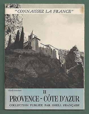 Early 1960's French Shell Oil / Petroleum Travel Booklet Provence - Cote D'azur