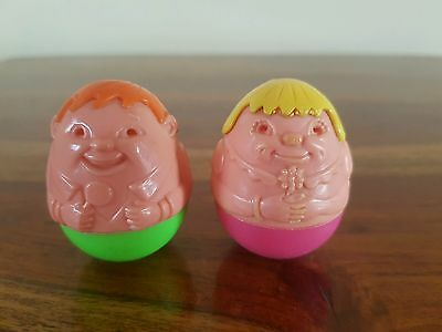 Vintage 1970's Airfix Wendy And Willy Weebles
