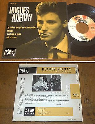 RARE French EP 45t BIEM (7') HUGUES AUFRAY (02/1964)