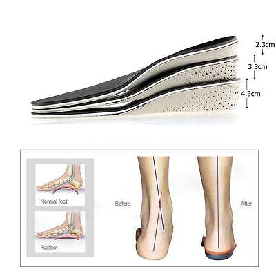 Anself Height Increase Flat Foot Shoe Insert Cushion Orthopedic Insole Pad Y2T3