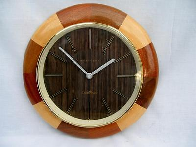 Wall Clock Art Deco Style Old Wooden Westclox Quartz Movement Good Working Order