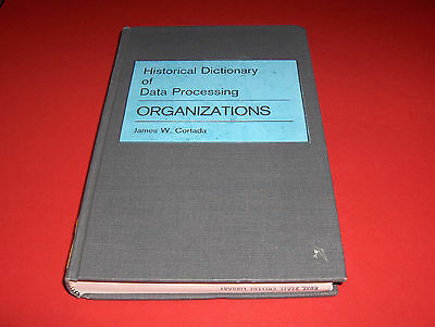 1987 Book Historical Dictionary Of Data Processing; Organizations; Computer