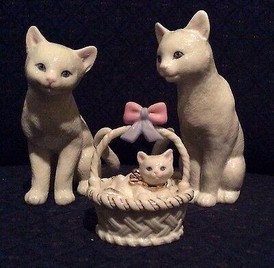 Lenox A Purrrfect Family Cats Kittens Figurine Sculpture New In Box COA