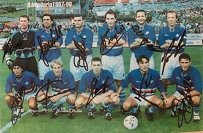 Fully Signed Sampdoria 1997 Team Group X 11 Jurgen Klinsmann Sinisa Mihajlovic +