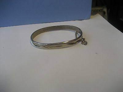 VINTAGE 1950's STYLE SILVER PLATED COSTUME JEWELRY BRACELET