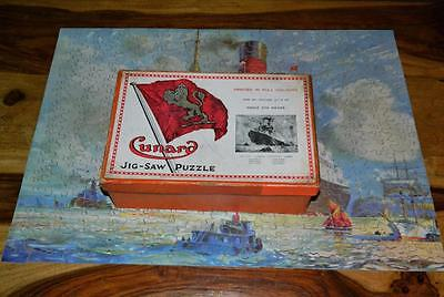"CHAD VALLEY 1925 CUNARD STEAM SHIP CO ""CANADIAN LINERS"" 375 pc WOODEN JIGSAW"