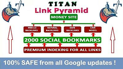 Rank on Google SAFE by Titan Pyramid HV. 1 Links , SEO ,Dofollow , EDU backlinks