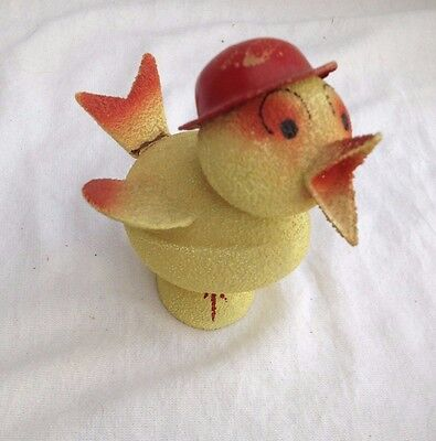 Pre-War 1930's German Pressed Paper Yellow Duck Candy Container Germany Bower