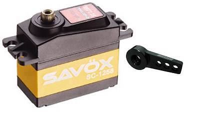 Savox SC-1258TG Super Speed Titanium Gear Digital Servo + Free Servo Horn Black