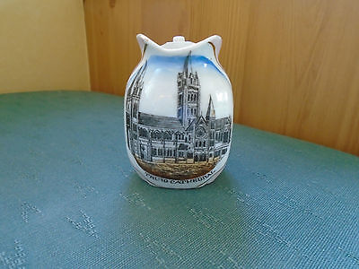 Vintage Truro Cathedral Picture Cornwall -  Pink Lustre Jug
