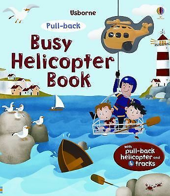 Pull-Back Busy Helicopter Book - Excellent Condition -