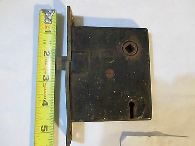 Antique Vintage Penn Cabinet Mortise Latch with Deadbolt Old Door Hardware Latch
