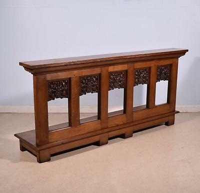 *Antique French Oak Wood Prayer Rail/Church Kneeler