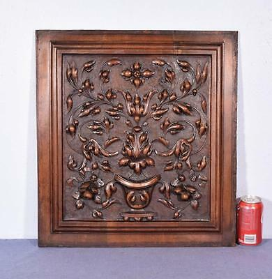 *French Antique Highly Carved Renaissance Revival Panel/Door in Walnut Wood 2