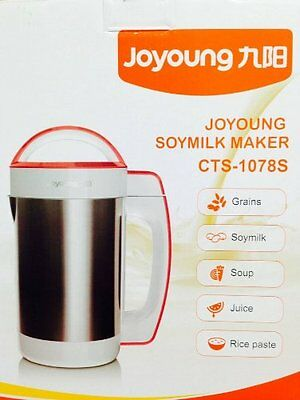 Automatic Hot Soy Milk Maker Joyoung CTS-1078S Easy-Clean ***DOUBLE BOXED***