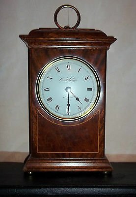 Mahogany Cased Quartz Timepiece Mantel Clock By Knight & Gibbins, London