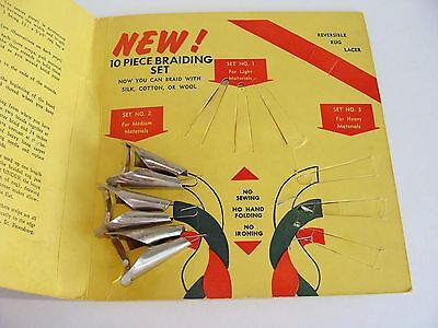 3 Piece Rug Braiding Tool Kit Set No. 2 for Medium Materials with Directions