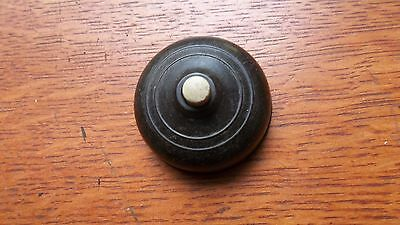 Vintage Mid Century Brown Bakelite Push Button Intermittent Buzzer -British Made