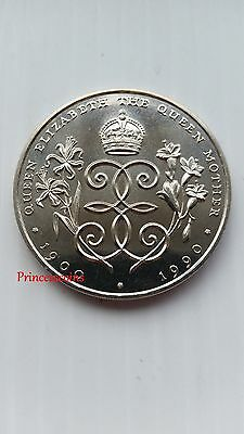 1990*unc* Bailiwick Of Guernsey Queen's Mother 90Th Birthday £2 Two Pound Coin