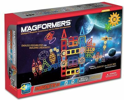 Magformers Magnets in Motion 300 Pc Magnetic Construction Power Set 63298 NEW