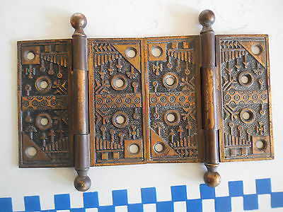 old 5 OLD CHEST BAILS OR PULL CAST BRONZE OR BRASS