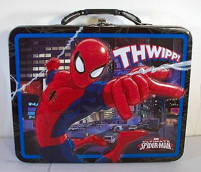 Marvel Ultimate Spiderman Lunch Box Embossed Tin Tote