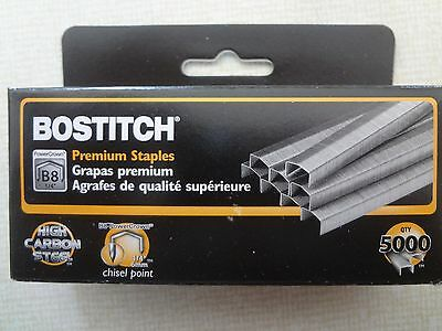New 1 Box (5000 Staples) Premium B8 Chisel Point Staples
