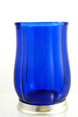 Vintage 1982 Collectible Guerlain Empty Scented Candle Holder Blue Mark Guerlain