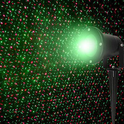 Outdoor Landscape Garden Romate Laser Light Xmas Stage Light Waterproof