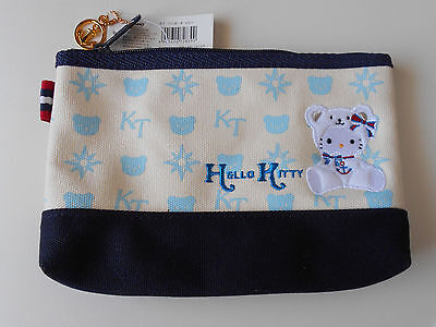 HELLO KITTY Canvas Zippered Case Pouch Cute Collectable Classic item