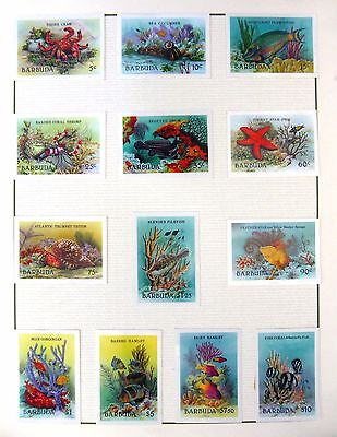 BARBUDA 1987 Marine Life (13) Imperf Cromalin Proofs in Format Folder FP8435