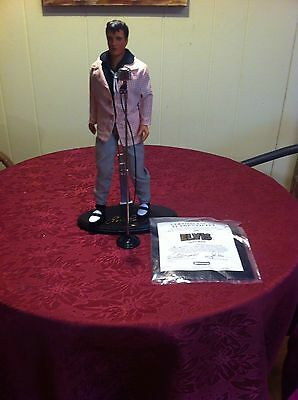 Elvis Doll With Clothes- Microphone/ Stand- Coa-New