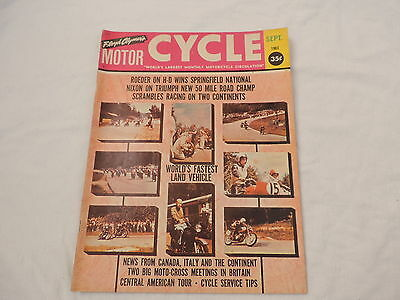 Old Sept 1963 Floyd Clymer's Motorcycle Magazine Grand Prix Norton Caprriolos +