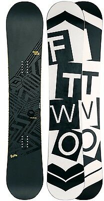 FTWO Blackdeck 157 WIDE Snowboard F2 All Mountain Camber Board UVP 400€  NEU