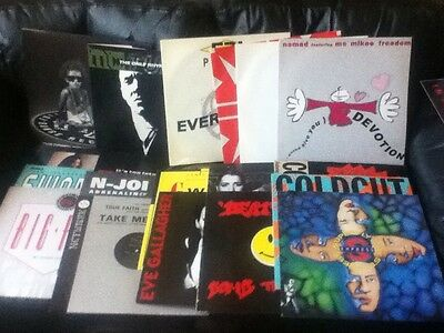 28 x 80's/90's OLD SKOOL DANCE TRANCE RAVE 12 INCH VINYL - S-EXPRESS,MC TUNES