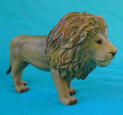 "Solid Plastic Male Lion Figure, 5"" long, Terra by Battat"