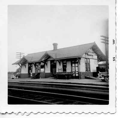 6J703 Rp 1955 Reading Railroad Train Station Annville Pa
