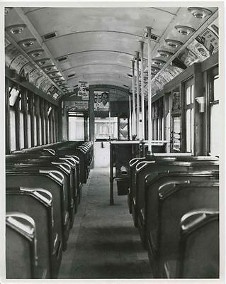 6Ff666 Rp 1951 Cleveland Transit System Car #4005 Interior Forward
