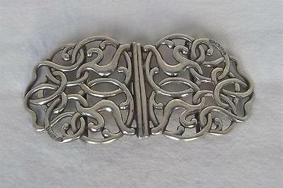 An Antique Solid Sterling Silver Celtic Design Victorian Nurses Buckle Date 1897