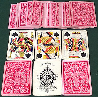 ANTIQUE c1882 DOUGHERTY ** PATENTED ** PLAYING CARDS  Last Deck No Indices AD21