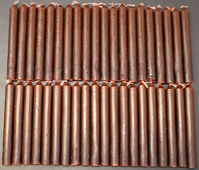 """Lot of 40 Chime Spell Candles: Brown, Mini 4"""" Pagan, Wicca, Altar, Ritual 2 x 20"""