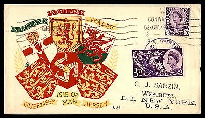 Great Britain Wales Regional Issues 1958 First Day Cover