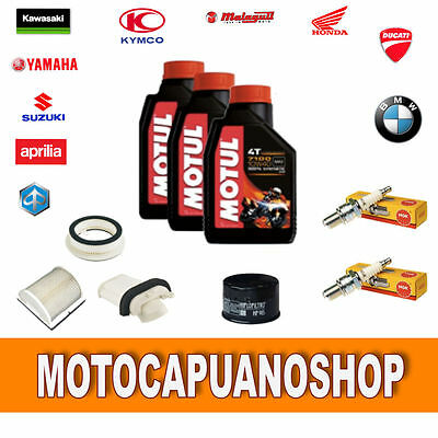 Replacement Kit Yamaha T Max 500 Oil Filters Candles 2001 2002 2003 Motul 7100