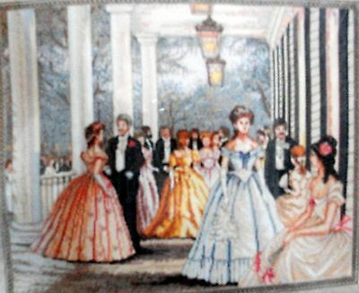 "Bucilla Heirloom  Embroidery Kit A Classic Ballroom Scene ""southern Belles"