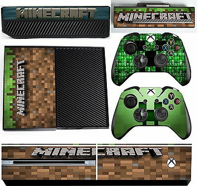 MINECRAFT 2  xbox one skins decals stickers + kinect + 2 controllers Game Two