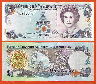 P30a  Cayman Islands   1 Dollar 2003 Comm.  Präfix Q/1  UNC