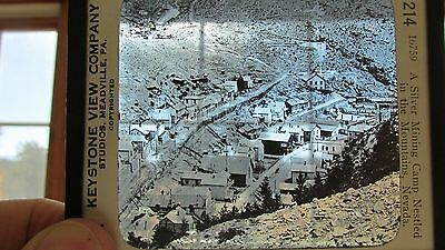 Black Hawk Colorado Glass View Panorama-Nevada Silver Mining Camp-Keystone-1890s